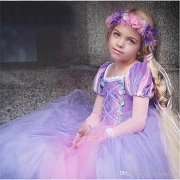 $enCountryForm.capitalKeyWord Australia - Fluffy Rapunzel Princess Costume For Girls Clothes Christmas Halloween Outfits Kids Children Party Clothing Girls Long Prom Gowns Fancy Wear