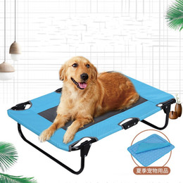 kennels pens Australia - Summer Pet House Outdoors Dog Bed Hammock Kennel Fold Dogs Cat Pad Cool Ventilation Supplies Creative Popular 65qs UU