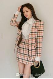 $enCountryForm.capitalKeyWord NZ - Pop2019 Korean Version Of The Spring Wool Coat Slim Bag Hip Skirt White Shirt Suit Three Piece Dress