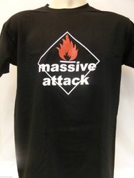 AttAck blAck online shopping - MENS MASSIVE ATTACK T SHIRT funny gift Short short Sleeve T Shirt Tops Round Neck Tees Funny Tee Cute T