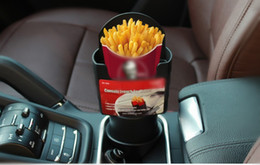 Car drink holders online shopping - Automotive Car Interior Cup French Fries Holder Fast Food Drink Beverage Cell Phone Mount Storage Black