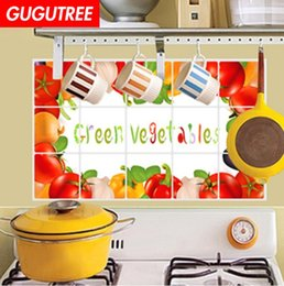 3d oil paint Australia - Decorate home 3D kitchen oil proof cartoon art wall sticker decoration Decals mural painting Removable Decor Wallpaper G-2575