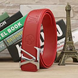 Wholesale Best selling classic redbelt Buckle Men Women Belts waistbands Leather girdle as gift