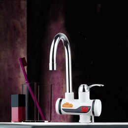 Kitchen Faucet Heated Australia - Electric Kitchen Water Heater Tap Instant Hot Water Faucet Heater Cold Heating Faucet Tankless Instantaneous