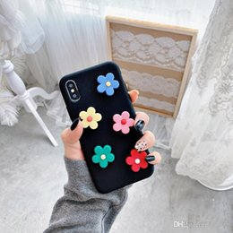 iphone plus case floral NZ - Cute 3D Flowers Phone Case For iphone XS Max XR X Cover For iphone 6 6s 7 8 plus Fashion INS Floral Pattern Soft Back Cases Capa