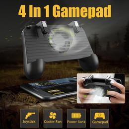 gaming controller for mobile 2019 - 4 In 1 Cooling Fan Radiator Charging Handle Gamepad Joystick Holder Gaming Controller Power Bank for Mobile Phone For PU