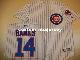 cheap cool base jerseys UK - Cheap custom ERNIE BANKS Cool Base Baseball Jersey W Patch NEW Stitched Customize any name number MEN WOMEN BASEBALL JERSEY XS-5XL