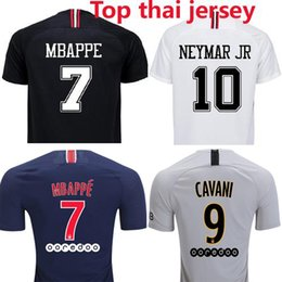 Thai quality 3rd Champion black white fan version Soccer jerseys 2018 2019  Maillot de foot MBAPPE Jersey 18 19 football shirt wholesale 026767337