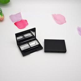 Wholesale Empty Eyeshadow Palettes Australia - Empty Double Grid Magnet Box Eyeshadow Pigment Palette Makeup Eye Shadow Pigment Palette Case fast shipping F1761