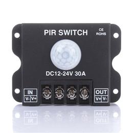 $enCountryForm.capitalKeyWord Australia - DHL Shipping LED PIR Switch DC12V-24V 30A Human Body Infrared Motion Sensor Controller for LED Light Strip