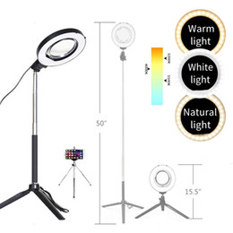 $enCountryForm.capitalKeyWord NZ - Adjustable ring light, adjustable height light stand, selfie stick and USB plug, with vanity mirror, mini tripod and Vlog phone clip