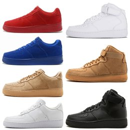 buy popular c66ec b76d4 mens sneakers one 1 designer casual chaussures pour femmes Fly dunk low  high cut triple blanc noir Blé rouge Outdoor Jogging Sports Tennis