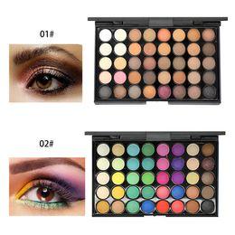 $enCountryForm.capitalKeyWord Australia - Cheap 40 Colors Matte Eyeshadow Palette Professional Makeup Shimmer Eye Shadow Cream Easy To Wear Long Lasting Radiant Natural Best Shadow