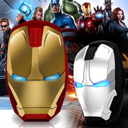 $enCountryForm.capitalKeyWord Australia - Iron Man Mouse Wireless Mouse Gaming Mouse Gamer Computer Mice Button Silent Click 800 1200 1600 2400DPI Adjustable computer