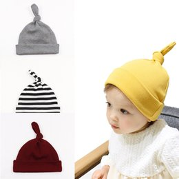 baby autumn hat Canada - Autumn Winter Baby Kids Hats Beanie Caps Children's Candy Color Caps Double Layer Warm Hats Boys Girls Baby Cotton Hat 15159