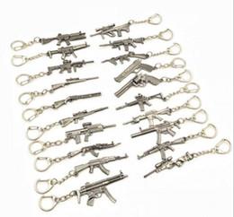 $enCountryForm.capitalKeyWord Canada - 2018 Hot Game 22 Styles PUBG CS GO Weapon Keychains AK47 Gun Model 98K Sniper Rifle Key Chain Ring for Men Gifts Souvenirs 6CM