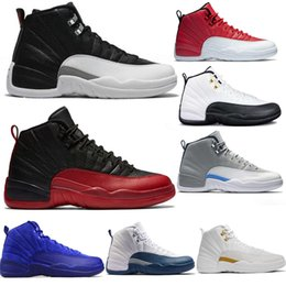$enCountryForm.capitalKeyWord NZ - High Quality 12 12s mens basketball shoes sneakers OVO White Gym Red Dark Grey women Basketball Shoes Taxi Blue Suede Flu Game CNY