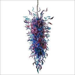 $enCountryForm.capitalKeyWord UK - Artistic Style Italian Hand Blown Murano Glass Ceiling Lights Designer Art Design Frosted Hand Blown Glass Modern LED Chandeliers