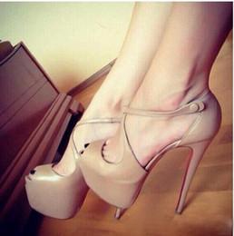 Eu 45 shoE sizE online shopping - 2019 Women New Fashion Red Bottom High Heels Dress Shoes Party Shoe super high heel stiletto Peep Toe sandals big size EU to