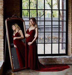 deep sweetheart neckline mermaid 2019 - 2019 New burgundy formal maternity pregnant evening dresses corset spaghetti sweetheart neckline chaple train evening pa