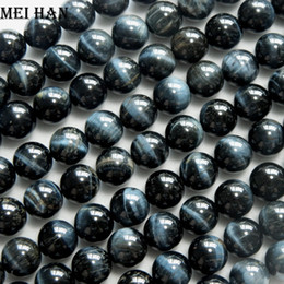 $enCountryForm.capitalKeyWord Australia - Meihan Hawk's Eye 8+-0.2mm&10mm Natural Color Smooth Round Beads Stone For Jewelry Making Design Diy Gift Wholesale J190625