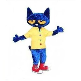 $enCountryForm.capitalKeyWord Australia - 2019 High quality hot Pete the Cat Mascot Costume Adult Size Halloween Cat Cartoon Costume Fancy Party Dress