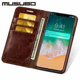 iphone se flip cases NZ - wholesale Leather Cases For iPhone XS MAX Luxury wallet phone bag Cover for iphonex 8 Plus 7 Plus 6s 6 5 5s SE flip case capa coque