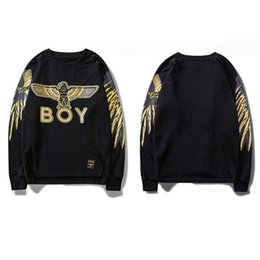 China Brand Fashion Mens Womens Autumn And Winter New Vogue Eagle Plus Velvet Long-sleeved Casual Designer Couple Sweater Top supplier 3xl mens cardigan sweaters suppliers