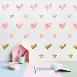 Arts Books Australia - Sparkling Crystals Love Five-pointed Star Wall Decals Kids Room Nursery Decor Wall Mural Poster Art Cabinet Book Decor Decals Self-adhesive