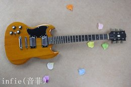 Sg guitar color online shopping - Custom mahogany High quality Good sound LEFT Hand SG Wood color Electric guitar