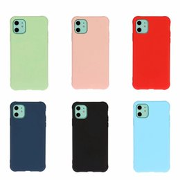shockproof black matte case 2020 - Shockproof Slim Matte Soft TPU Case For Iphone 11 Pro Cases For Iphone XR XS MAX X XS 8 7 6 Ultra Thin Plain Luxury Phon