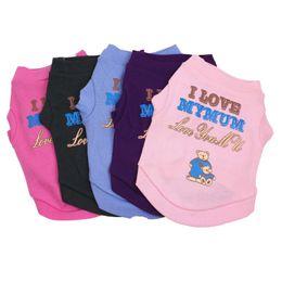 $enCountryForm.capitalKeyWord Australia - Cute Pet Dog Clothe Cotton Cat Vest Small Puppy Coat Jacket Summer Apparel Cartoon Clothing t shirt Jumpsuit Outfit Pet supply DHL Free