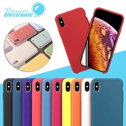 SamSung note original caSing online shopping - For iPhone X XR XS Max Color No Original Soft of Silicone Cases Colorful Liquid Silicone Case Cover iPhone Plus With Ratail Package