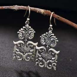 han earrings Australia - Brinco National Wind Restoring Ancient Ways Is Han Edition Of Dumb Light Of Hollow Out Ms Totem High-grade Pendant Earrings