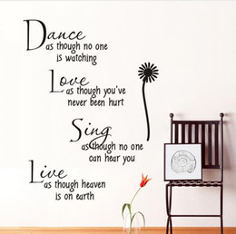 $enCountryForm.capitalKeyWord NZ - dance as though no one is watching love quote wall decals zooyoo2008 removable pvc wall stickers home decor bedroom diy wall art