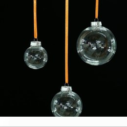 clear balls Australia - A 6cm 8cm 10cm Christmas Decorations balls transparent hanging christmas ball baubles clear plastic christmas Bauble ornaments Gift
