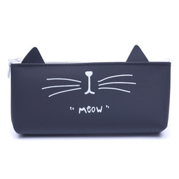 $enCountryForm.capitalKeyWord Australia - Cartoon Cat Organizer Bag Women Silica gel Travel Makeup Bag Case Handbag Small Lady Zipper Make up Cosmetic Female Tote