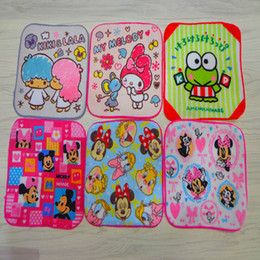 $enCountryForm.capitalKeyWord Australia - Cartoon Printed Square Towel Little Twin Stars My Melody Character Wipe Hand Towel Handkerchief For Kids Christmas Gifts