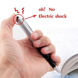 $enCountryForm.capitalKeyWord NZ - 2019 Promotion Fancy Ball Point Pen Shocking Electric Shock Toy Gift Joke Prank Trick Fun Novelty Friend's Best Gift more popular