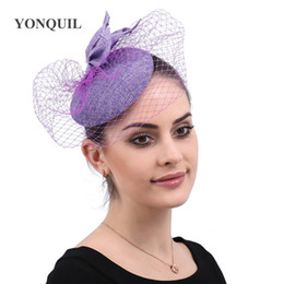 $enCountryForm.capitalKeyWord Australia - Bridal veils hats ladies elegant fascinators bridal married women wedding headwear ladies party show race mesh hair accessories free ship