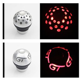 $enCountryForm.capitalKeyWord Australia - LED Red Gear Shift Knob for AT MT Shifter Lever 3 Aadapters switching adapters Cool Funny Automobile Acessories Auto Decoration Popular Hit