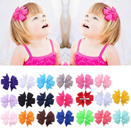 $enCountryForm.capitalKeyWord Australia - 20 PCS Kids Girls Solid Color Bowknot Hair Bow Hair Clip Hairclips Clips Decoration Accessories Assorted Colors Christmas Gift