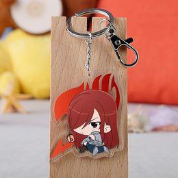 $enCountryForm.capitalKeyWord Australia - Anime Fairy Tail Keychain Fashion Acrylic Natsu Lucy Heartfilia Erza Scarlet Car Key Holder Chain Pendant Keyrings Jewelry