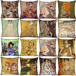 ethnic cushions covers Australia - Creative Printed Pillowcase Cotton Linen Pillow Case Blended Ethnic Style Pattern Cushions Design Pillow Cover Car Home Hotel Decoration