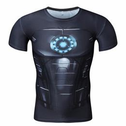 Fitness Sport Wear Men UK - 2017 summer Captain America 3d T shirt Men Layer Thermal fitness Shirt Crossfit Tops Martial Arts gym outdoor sports wear