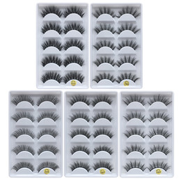 DHLfree shipping 5pais Eye Lashes Thick false Eyelashes 5 pairs of false eyelashes F810 5pais EyeLashes F820 F830 F840 F850 on Sale