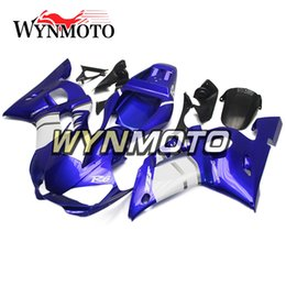 $enCountryForm.capitalKeyWord NZ - Blue White Style Motorcycle Fairings For Yamaha YZF 600 R6 1998 1999 2000 2001 2002 ABS Plastic Injection motorbike Kits cowlings covers