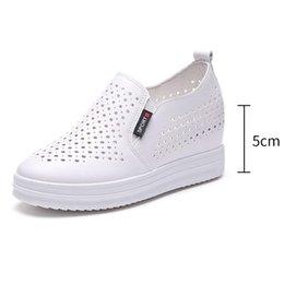 Venda quente-Moda Sneakers Creeper Loafers Ladie Casual Respirável Emagrecimento Plana Sapatos de Plataforma Deslizamento Em Sapatas Para As Mulheres Planas venda por atacado