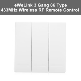 $enCountryForm.capitalKeyWord NZ - eWeLink 1 2 3 Gang 86 Type ON Off Switch Panel Push Button Wall Light Switch Remote Controller 433MHz Wireless RF Remote Control