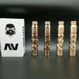 Vape mechanical aV online shopping - AV Mechanical Mod Kit E Cigarette Fit Battery Brass Copper Material thread Vaporizer Vape Mods E Cig DHL Free